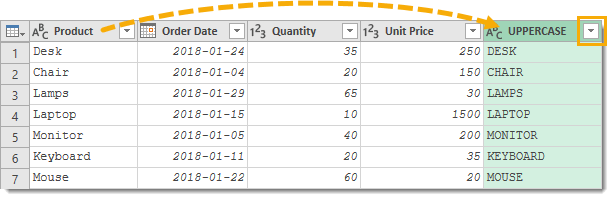 Filter-on-Uppercase-Column 25 Amazing Power Query Tips and Tricks