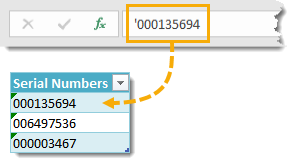 Numbers-as-Text-Using-an-Apostrophe Amazing Excel Tips and Tricks