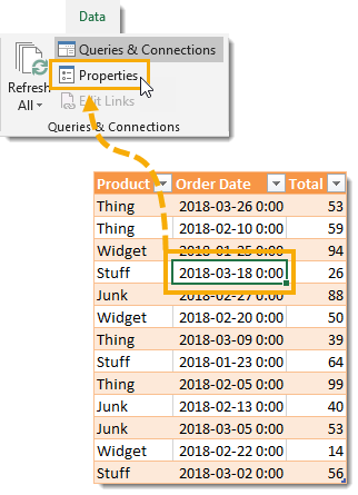 Open-the-External-Data-Properties-Menu Amazing Power Query Tips and Tricks