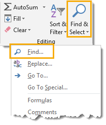 Open-the-Find-Dialog-Box Amazing Excel Tips and Tricks