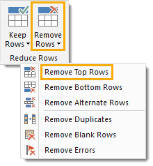 Remove-Top-Rows Adding Metadata to a Report with Power Query