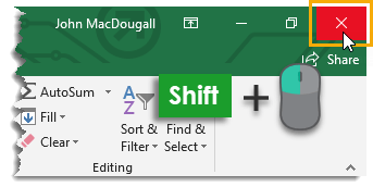 Shift-Click-to-Close-All-Open-Workbooks Amazing Excel Tips and Tricks
