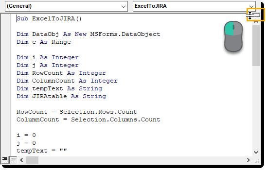 Visual-Basic-Editor-Split-Bar Amazing Excel Tips and Tricks