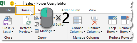 Double-Click-to-Hide-the-Ribbon 25 Amazing Power Query Tips and Tricks