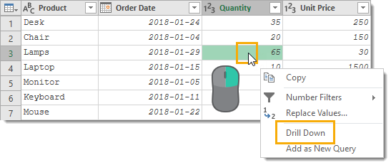 Drill-Down-to-a-Single-Value 25 Amazing Power Query Tips and Tricks