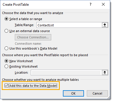 Add-Table-to-the-Data-Model 5 Ways to Concatenate Data with a Line Break in Excel