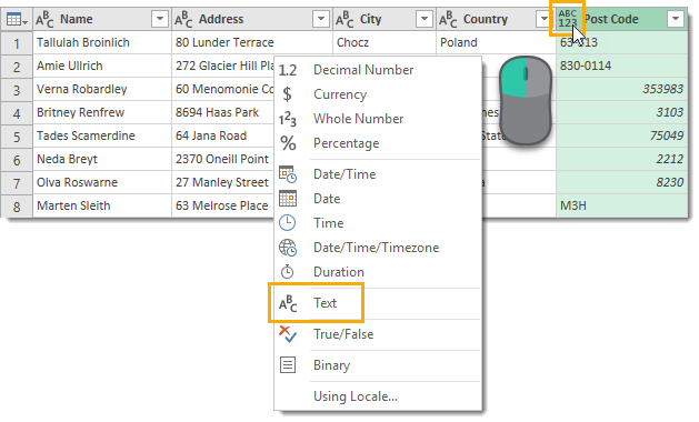Change-Data-Type-to-Text 5 Ways to Concatenate Data with a Line Break in Excel