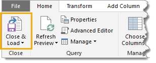 Close-and-Load Import XML Files into Excel