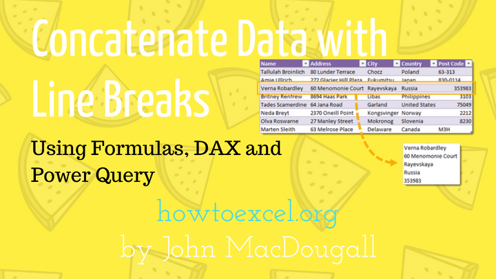 5 Ways to Concatenate Data with a Line Break in Excel | How
