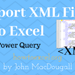 Import XML Files into Excel