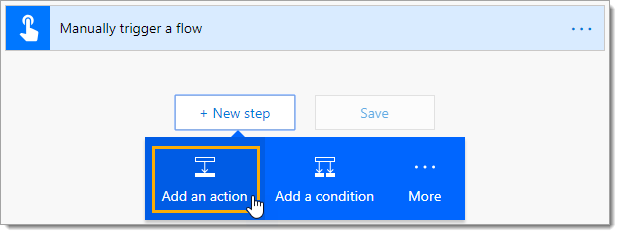 Add-an-Action-After-the-Trigger Sending Emails from Excel with Microsoft Flow