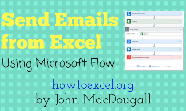 Sending Emails from Excel with Microsoft Flow