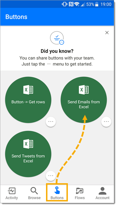 Microsoft-Flow-App Sending Emails from Excel with Microsoft Flow