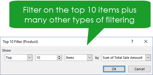 Filtering-to-Focus-on-Only-the-Data-You-Want-to-See The Ultimate Guide to Data Analysis with Pivot Tables