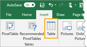 Insert-Table Importing and Exporting Data from SharePoint and Excel