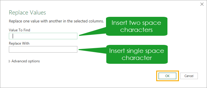 Power-Query-Replace-Double-Space-Characters 4 Ways to Remove Unwanted Space Characters