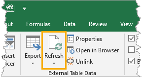 Refresh-Excel-Table Importing and Exporting Data from SharePoint and Excel