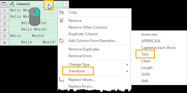 TRIM-Column-in-Power-Query 4 Ways to Remove Unwanted Space Characters