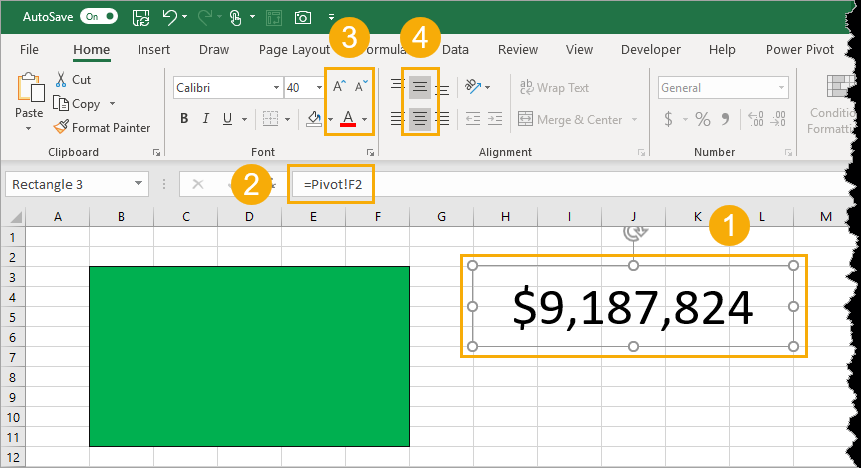 Create-Subtotal-Data-Card Create Amazing Key Performance Indicator Data Cards In Excel
