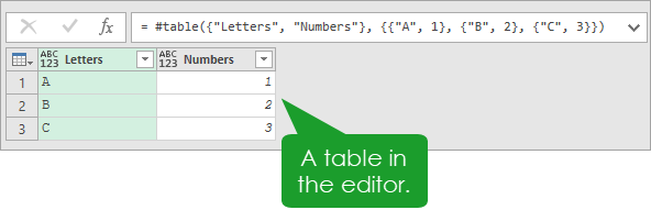 Editor-Table Introduction To Power Query M Code