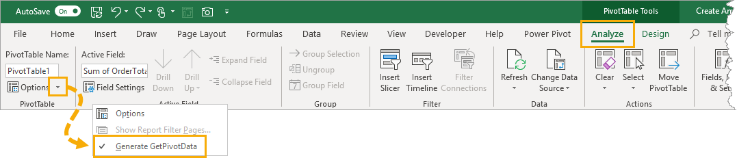 Generate-GetPivotData Create Amazing Key Performance Indicator Data Cards In Excel