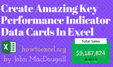 Create Amazing Key Performance Indicator Data Cards In Excel