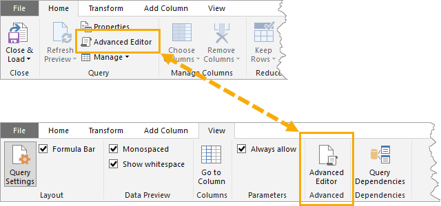 Open-Advanced-Editor Introduction To Power Query M Code