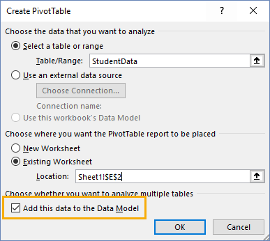 Add-this-to-the-Data-Model Summarizing Text Data With Pivot Tables