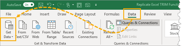 Create-Blank-Query Replicate Excel's TRIM Function In Power Query