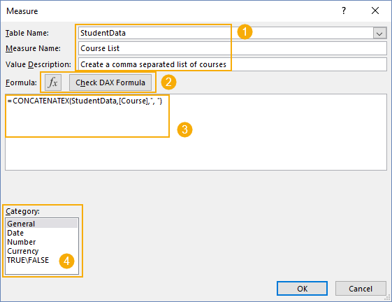Measure-Dialog-Box Summarizing Text Data With Pivot Tables