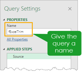 Name-The-Query Replicate Excel's TRIM Function In Power Query