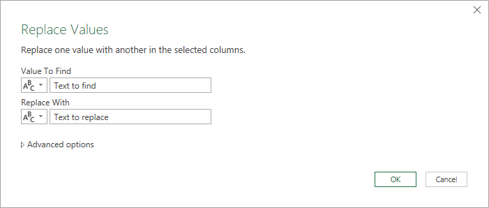 Replace-Values-Menu Bulk Find And Replace In Power Query