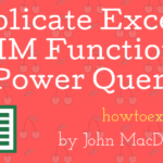 Replicate Excel's TRIM Function In Power Query