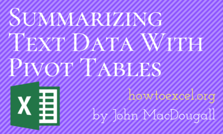 Summarizing Text Data With Pivot Tables