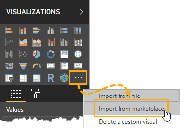 Import-From-Marketplace Integrating Power BI And PowerApps