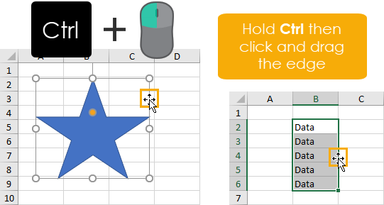 Click-and-Drag-to-Copy-and-Paste 37 Awesome Excel Mouse Tips & Tricks You Should Know