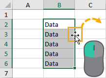 Click-and-Drag-to-Cut-and-Paste 37 Awesome Excel Mouse Tips & Tricks You Should Know