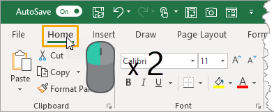 Double-Click-to-Expand-or-Collapse-Ribbon 37 Awesome Excel Mouse Tips & Tricks You Should Know