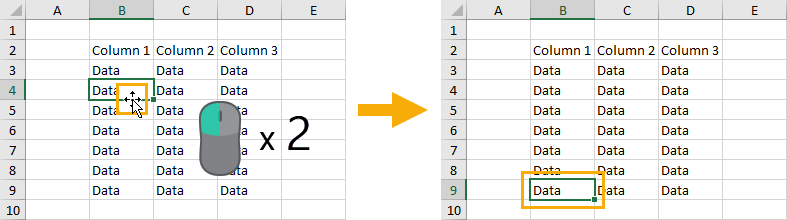 Double-Click-to-Navigate-Data 37 Awesome Excel Mouse Tips & Tricks You Should Know