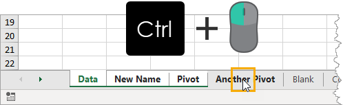 Group-Sheet-With-Ctrl-And-Click 37 Awesome Excel Mouse Tips & Tricks You Should Know