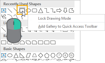 Lock-Drawing-Mode 37 Awesome Excel Mouse Tips & Tricks You Should Know