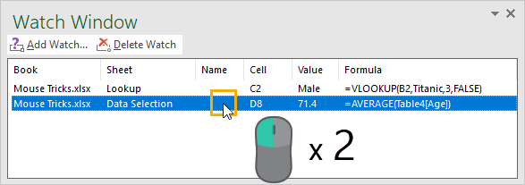 Navigate-with-Watch-Window 37 Awesome Excel Mouse Tips & Tricks You Should Know