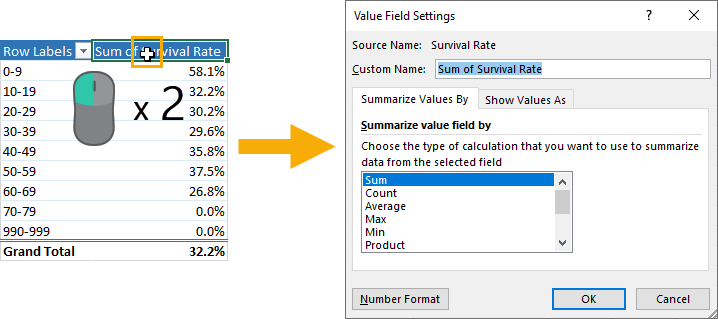 Open-Value-Field-Setting-Menu 37 Awesome Excel Mouse Tips & Tricks You Should Know