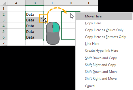 Right-Click-and-Drag-Selection-for-Advanced-Options 37 Awesome Excel Mouse Tips & Tricks You Should Know
