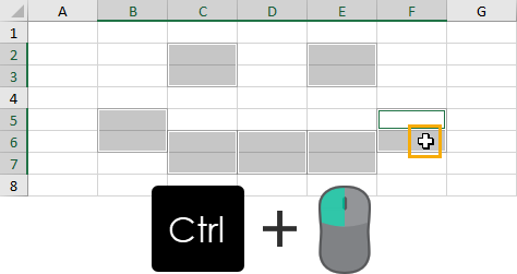 Select-and-Deselect-Non-Adjacent-Cells 37 Awesome Excel Mouse Tips & Tricks You Should Know