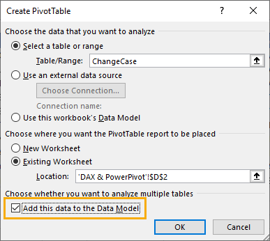 Add-this-Data-to-the-Data-Model 5 Ways To Change Text Case In Excel