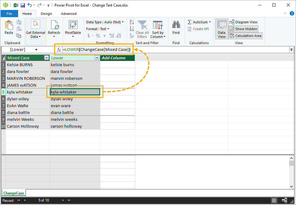 Create-Calculated-Column-in-Power-Pivot 5 Ways To Change Text Case In Excel