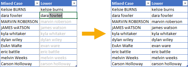 Flash-Fill-Example 5 Ways To Change Text Case In Excel
