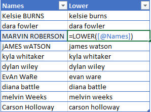 LOWER-Excel-Function-Example 5 Ways To Change Text Case In Excel