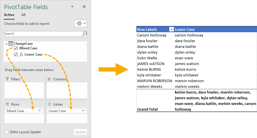 Pivot-Table-with-Lower-Case-Measure 5 Ways To Change Text Case In Excel